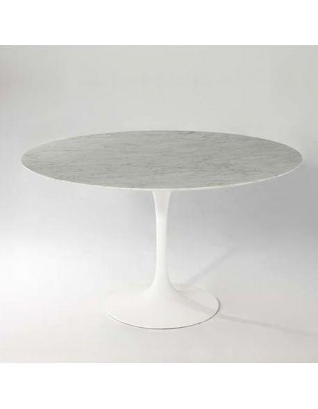 table tulipe ronde blanche