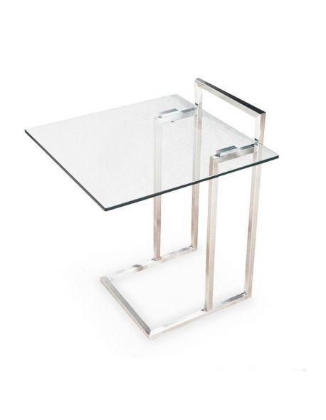 Table d'appoint en verre transparent