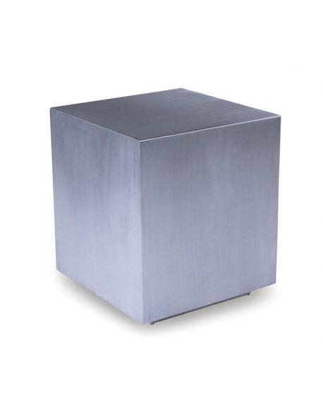 tabouret cube en inox brossé