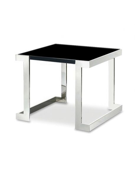table d'appoint design en verre noir