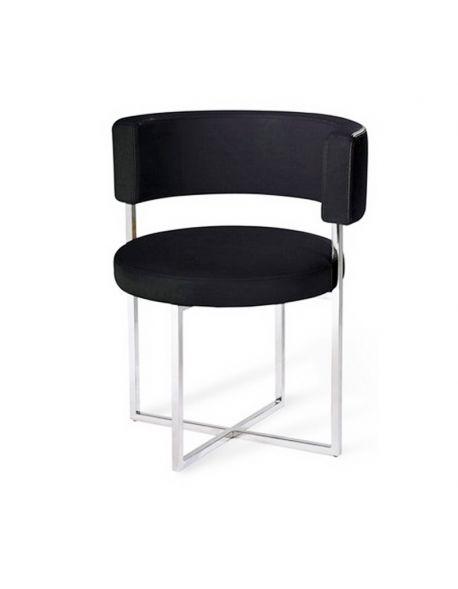 Chaise ronde noir