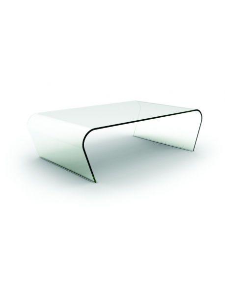 Table basse en verre transparente