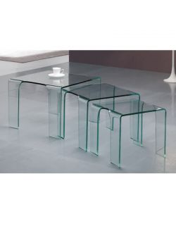 table gigogne verre