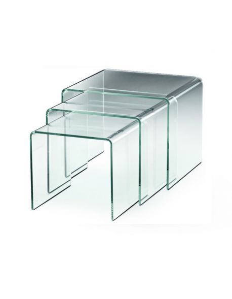 Table Basse Gigogne en Verre BALIOS