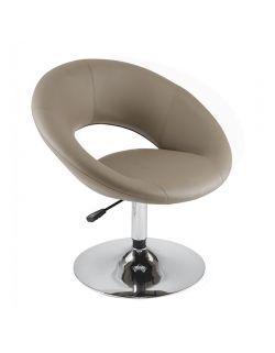 Fauteuil noir à assise ronde