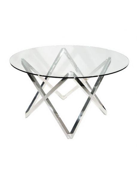 Table ronde transparente