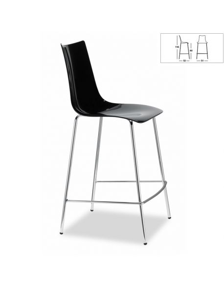 Chaise de Bar ZEBRA 2546 380